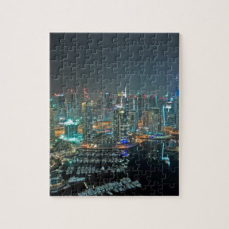 Dubai, United Arab Emirates skyline at night Puzzles