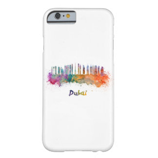 Dubai V2 skyline in watercolor Barely There iPhone 6 Case