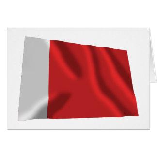 Dubai Waving Flag Card