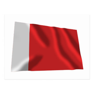 Dubai Waving Flag Postcard