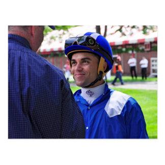 Dubai World Cup winning  jockey Joel  Rosario Postcard