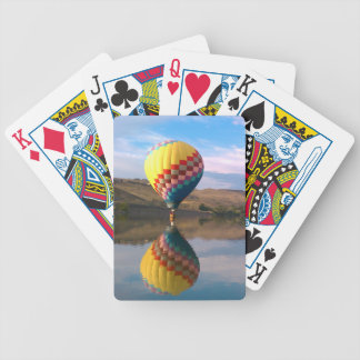Dubble RAINBOW.  Hotair balloon on the snake river Bicycle Playing Cards