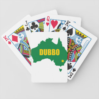 Dubbo Green and Gold Map Bicycle Playing Cards