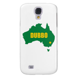 Dubbo Green and Gold Map Samsung Galaxy S4 Case