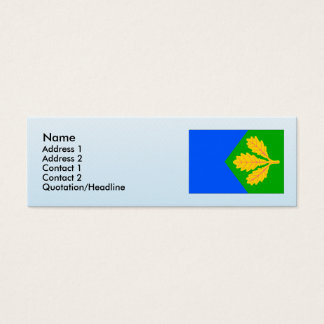 Dubicne, Czech Mini Business Card