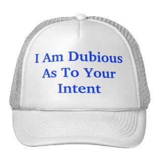 dubious intent hat