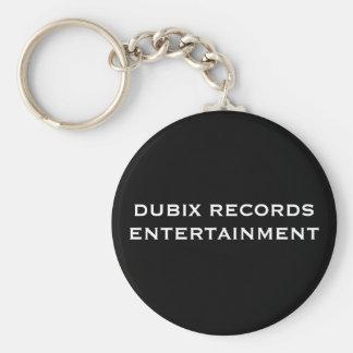 DUBIX RECORDS ENTERTAINMENT BASIC ROUND BUTTON KEYCHAIN