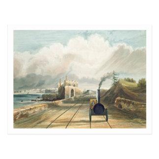 Dublin and Kingstown Railway: From the Footbridge Postcard