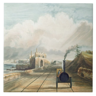 Dublin and Kingstown Railway: From the Footbridge Tile