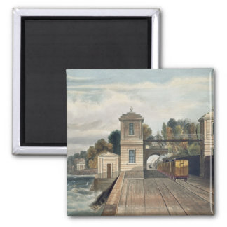 Dublin and Kingstown Railway: Granite Pavilions an 2 Inch Square Magnet