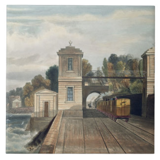 Dublin and Kingstown Railway: Granite Pavilions an Ceramic Tile