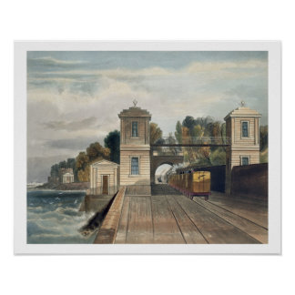 Dublin and Kingstown Railway: Granite Pavilions an Poster