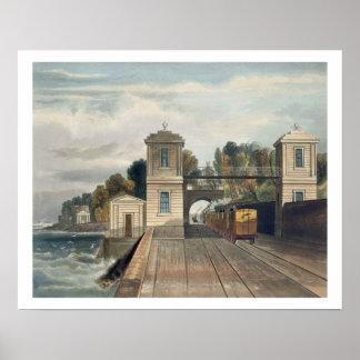 Dublin and Kingstown Railway: Granite Pavilions an Print