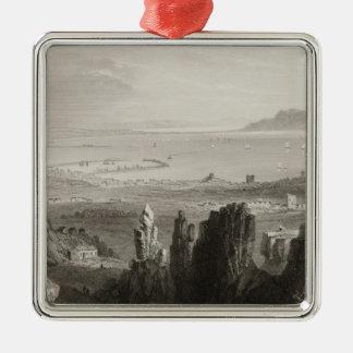 Dublin Bay from Kingstown Quarries Metal Ornament