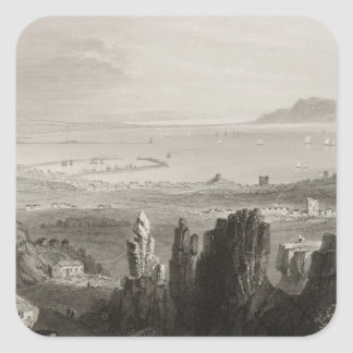 Dublin Bay from Kingstown Quarries Square Sticker