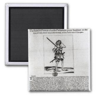 Dublin Broadsheet, 1647 2 Inch Square Magnet