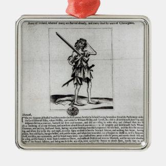 Dublin Broadsheet, 1647 Metal Ornament