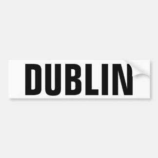 Dublin Car Bumper Sticker