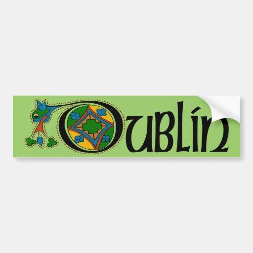 Dublin Bumper Sticker Car Bumper Sticker