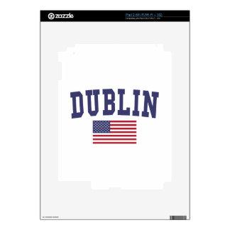 Dublin CA US Flag iPad 2 Decal