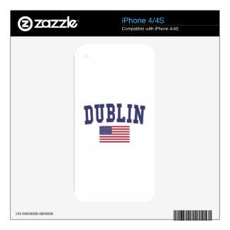 Dublin CA US Flag iPhone 4 Decals