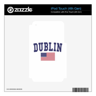 Dublin CA US Flag iPod Touch 4G Skins