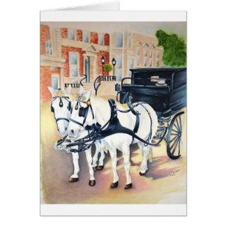 Dublin Carriage ride through St Stephens Green Greeting Card