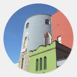 Dublin Castle Ireland Classic Round Sticker