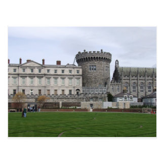 Dublin Castle Ireland, lawn & castle turret. Postcard