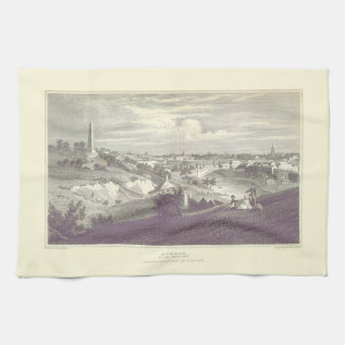 Dublin City From Phoenix Park 1825 Tea Towel at Zazzle