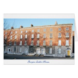 Dublin city Ireland, Georgian Houses Card