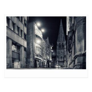 Dublin City Night Postcard