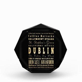 Dublin City of Ireland Typography Art Award