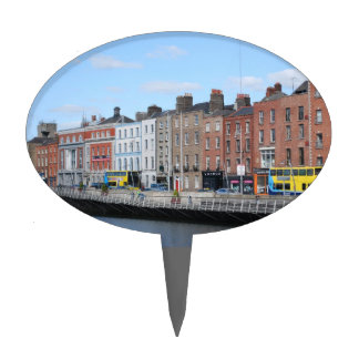 Dublin City on The Liffey Cake Topper