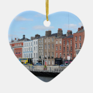 Dublin City on The Liffey Ceramic Ornament
