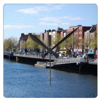 Dublin City on The Liffey Wallclock