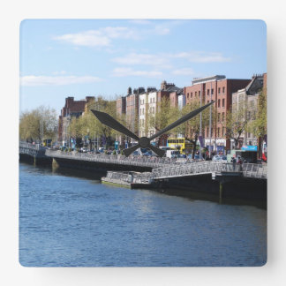 Dublin City on The Liffey Square Wallclocks