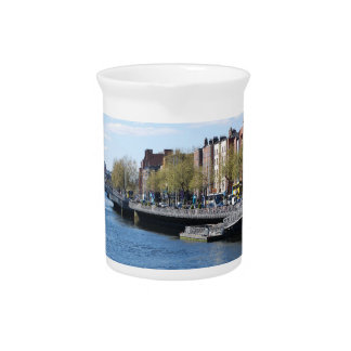 Dublin City on The Liffey Drink Pitchers