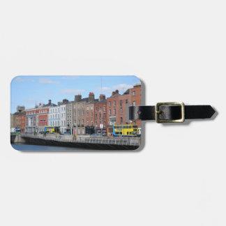 Dublin City on The Liffey Luggage Tag