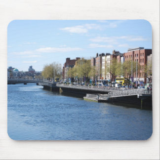 Dublin City on The Liffey Mouse Pads