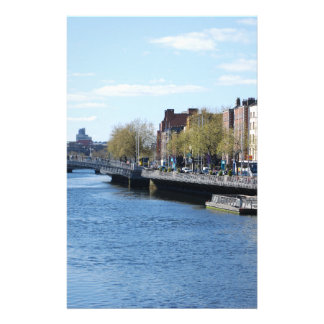 Dublin City on The Liffey Stationery Paper