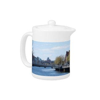 Dublin City on The Liffey Teapot