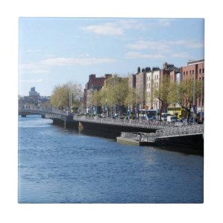 Dublin City on The Liffey Tile