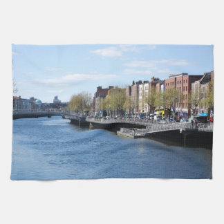 Dublin City on The Liffey Towels