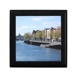 Dublin City on The Liffey Trinket Boxes