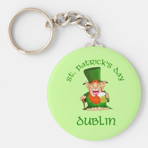 ~ Dublín del día de St Patrick Llavero Redondo Tipo Pin