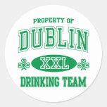 Dublin Drinking Team Classic Round Sticker