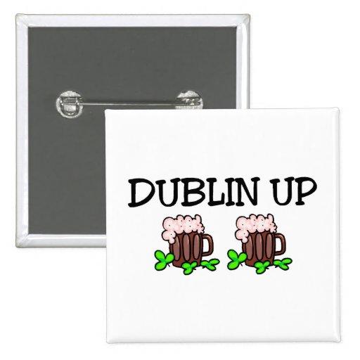 Dublín encima de la cerveza pins