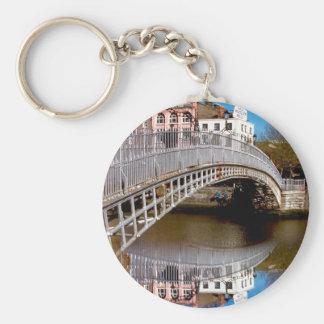 Dublin Halfpenny Bridge Basic Round Button Keychain