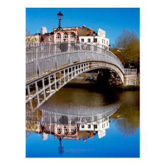 Dublin Halfpenny Bridge Postcard